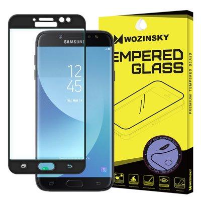Wozinsky szkło hartowane na cały ekran z żelową ramką Samsung Galaxy J7 2017 J730 czarny
