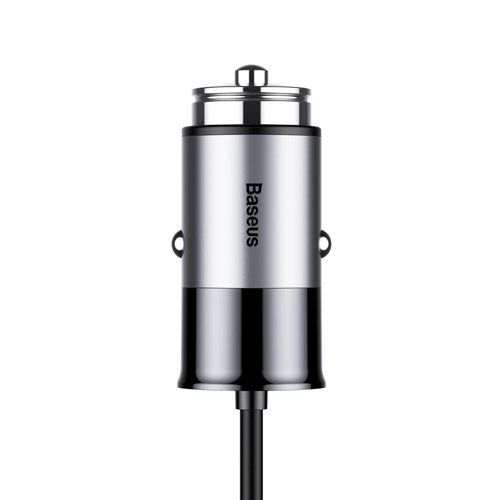Baseus Enjoy Together Car Charger 4.8A with Integrated 2in1 Cable Lightning + USB-C 1.2M grey (CCALL-EL0G) Ex-display