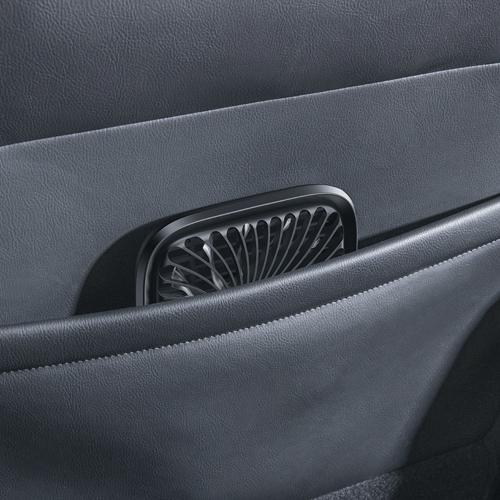 Baseus Foldable Vehicle-mounted Backseat Fan car headrest micro USB windmill White (CXZD-02)