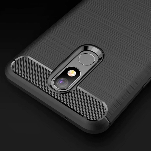 Carbon Case Flexible Cover TPU Case for LG K40 X420 black