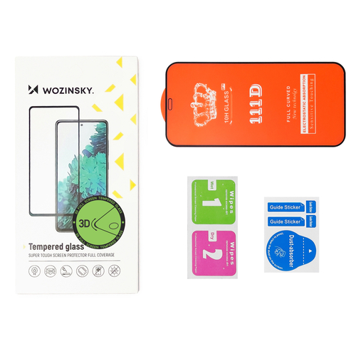 Wozinsky Tempered Glass Full Glue Super Tough Screen Protector Full Coveraged with Frame Case Friendly for Motorola One Action / Motorola One Vision black
