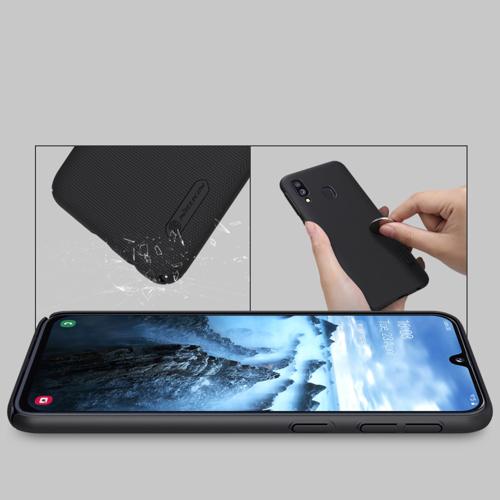Nillkin Super Frosted Shield robuste Handyhülle + kickstand für Samsung Galaxy A40 schwarz