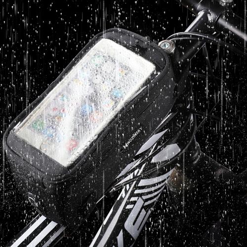 Wozinsky Torba rowerowa na ramę pokrowiec na telefon do 6,5 cala 1L czarny (WBB6BK)