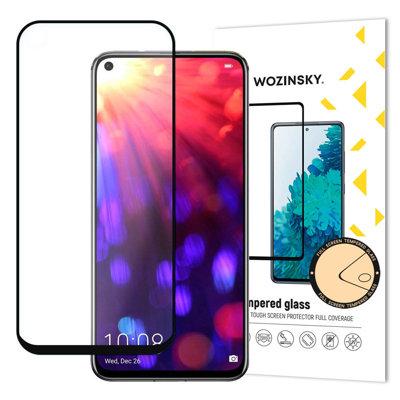 Wozinsky super wytrzymałe szkło hartowane Full Glue na cały ekran z ramką Case Friendly Huawei Honor 20 Pro / Honor 20 / Huawei Nova 5T czarny